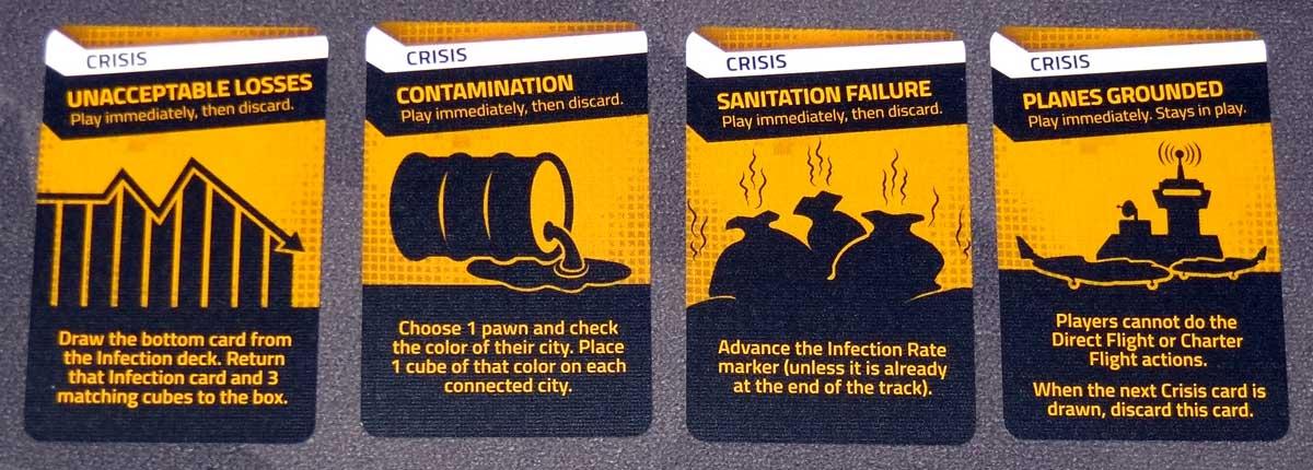 Pandemic: HotZone—North America crisis cards