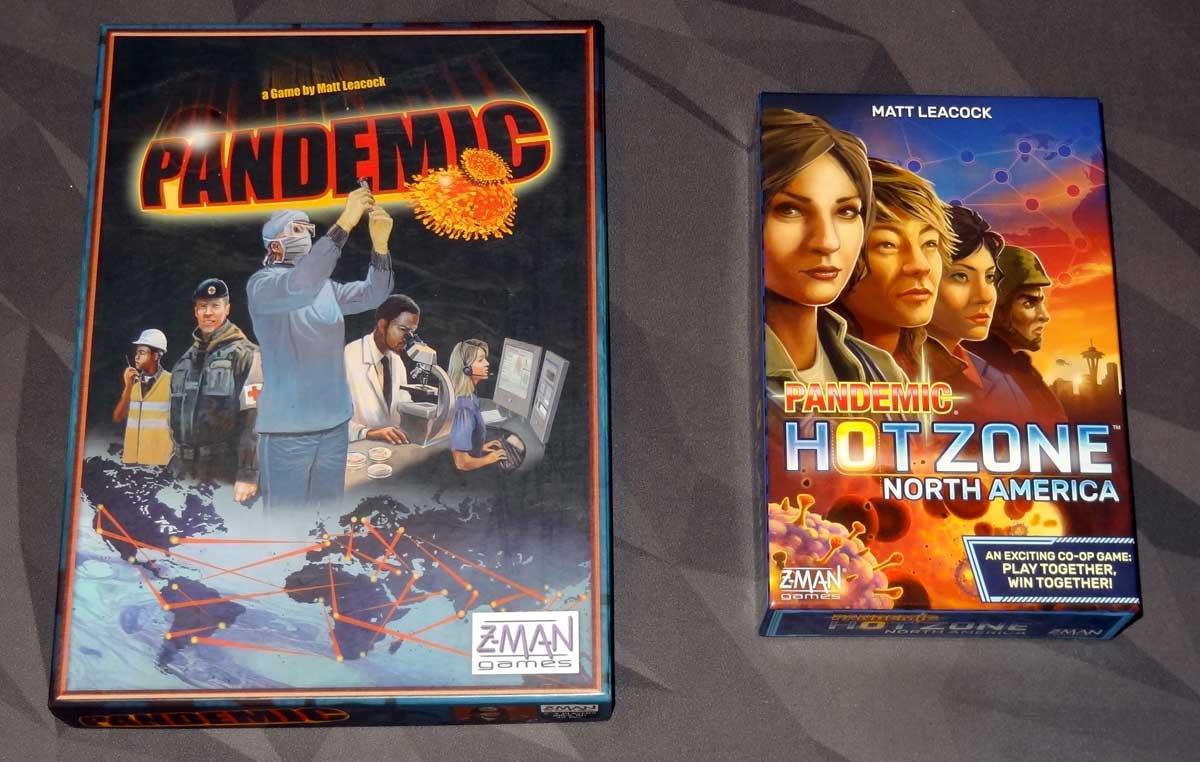 Pandemic and Pandemic: HotZone—North America box size comparison