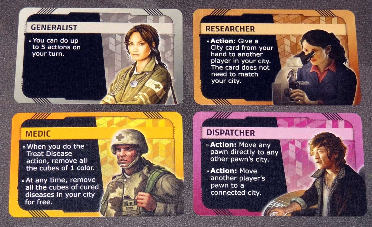 Pandemic: HotZone—North America character cards