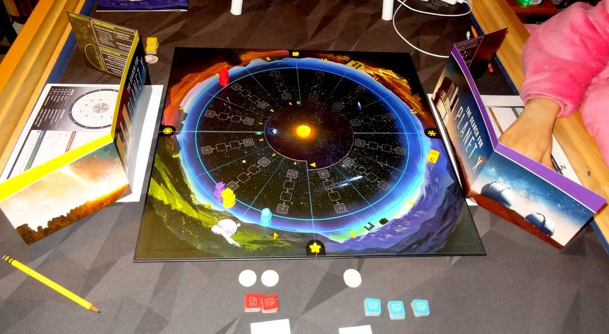 The Search for Planet X game in progress