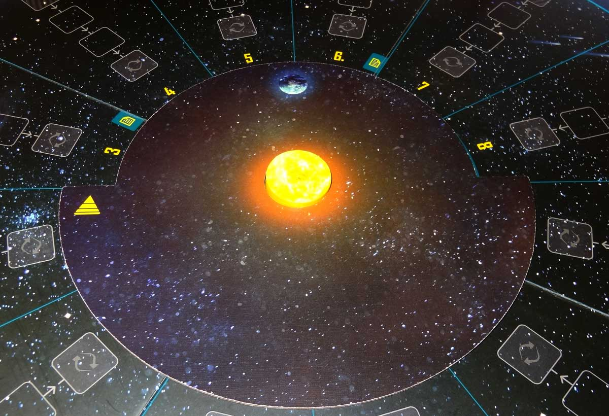 The Search for Planet X earth board