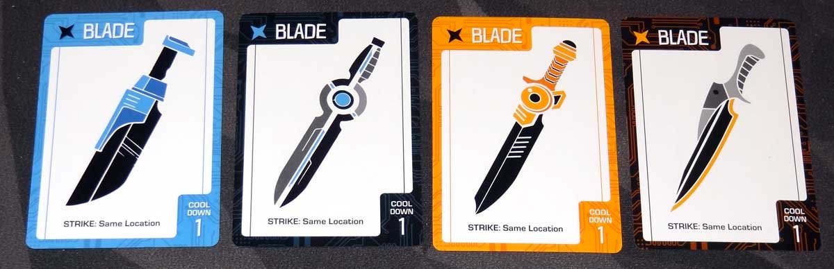 Slip Strike blade cards
