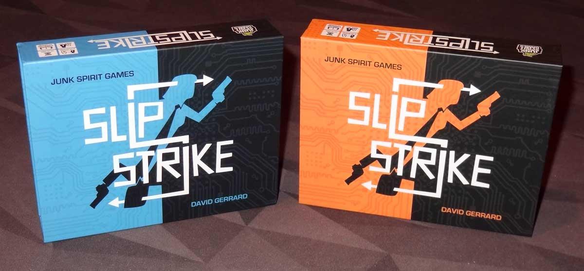 Slip Strike blue box and orange box
