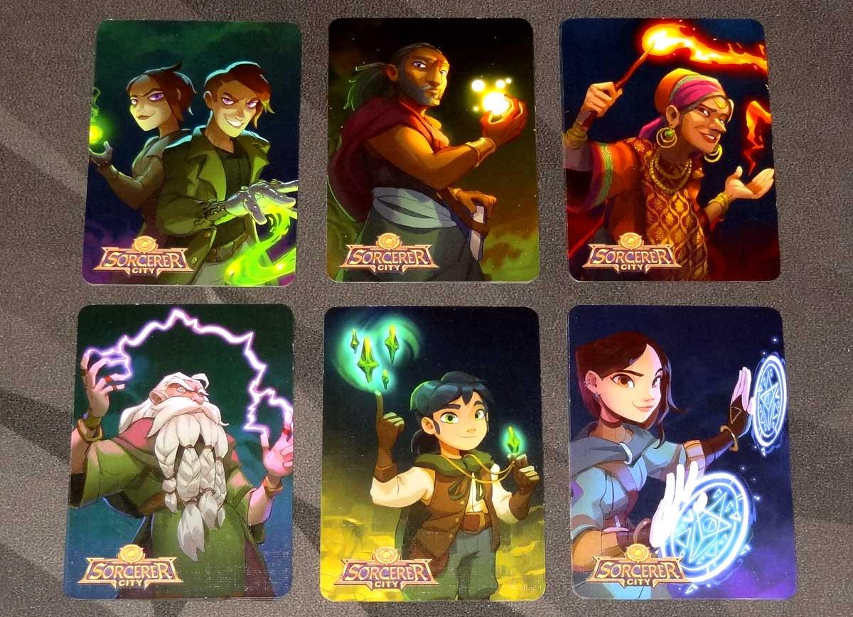 Sorcerer City magic transformation card backs