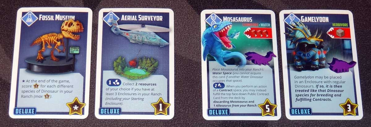 Tiny Epic Dinosaurs Lab research cards