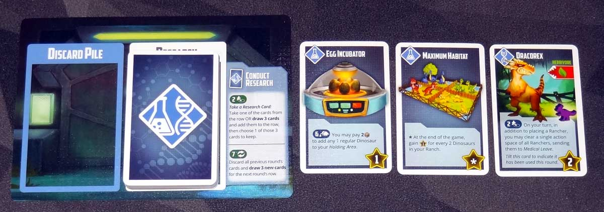 Tiny Epic Dinosaurs research cards