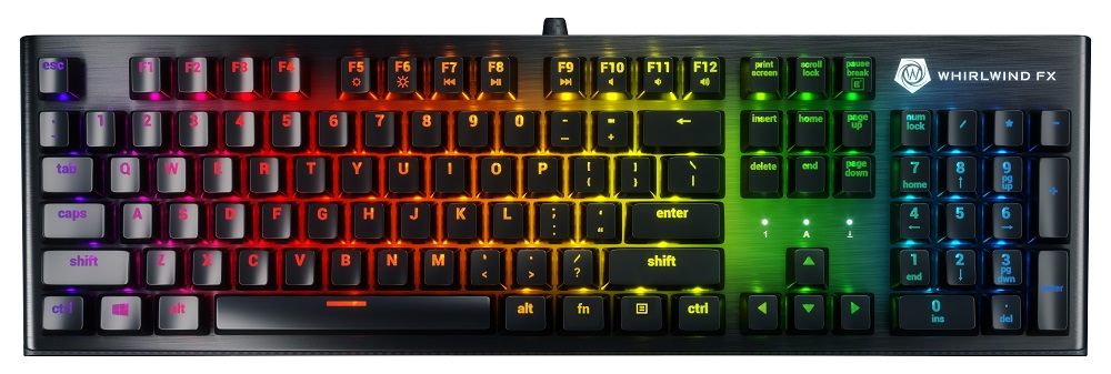 keyboard with rainbow lights