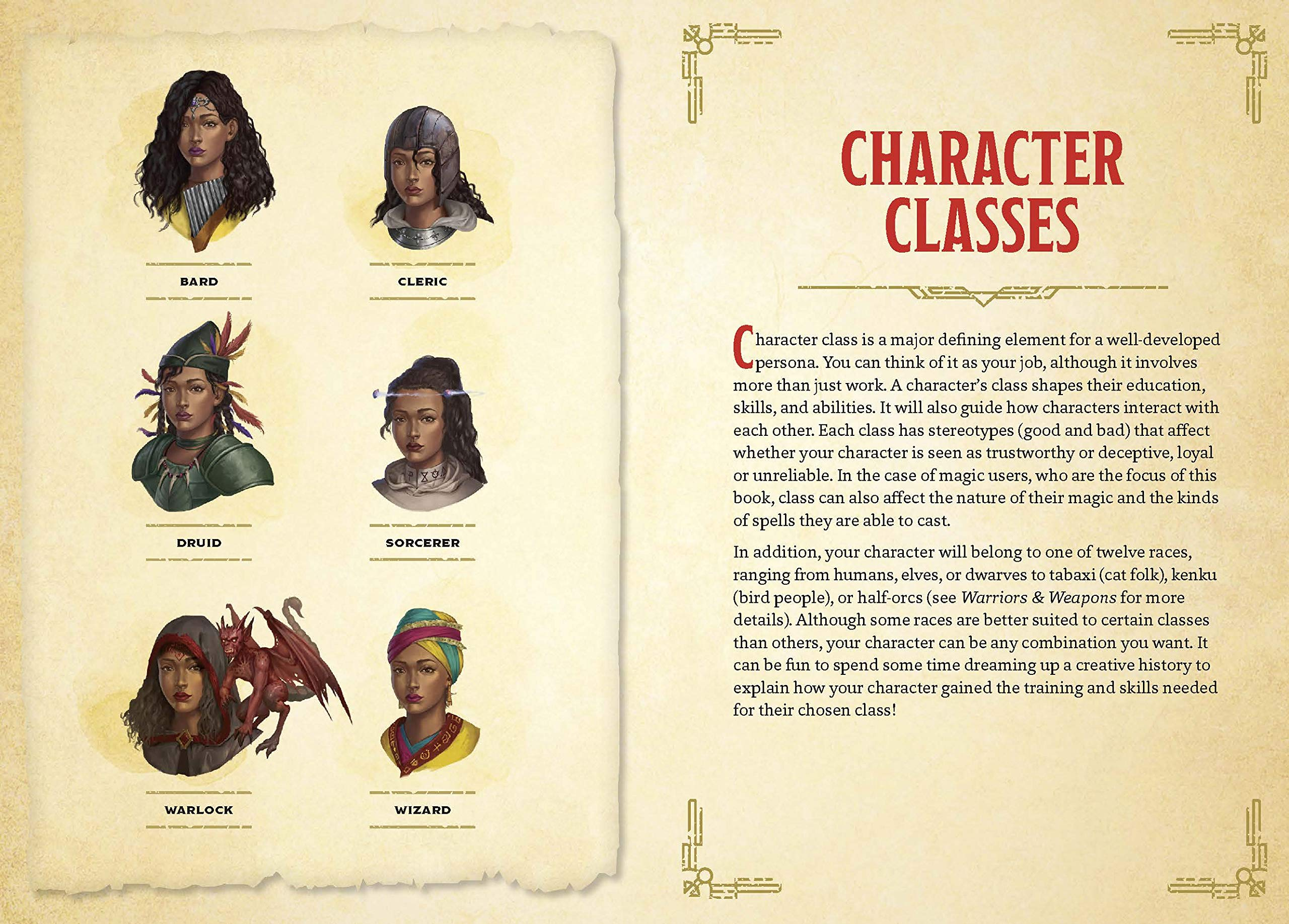 Warriors & Weapons - character classes