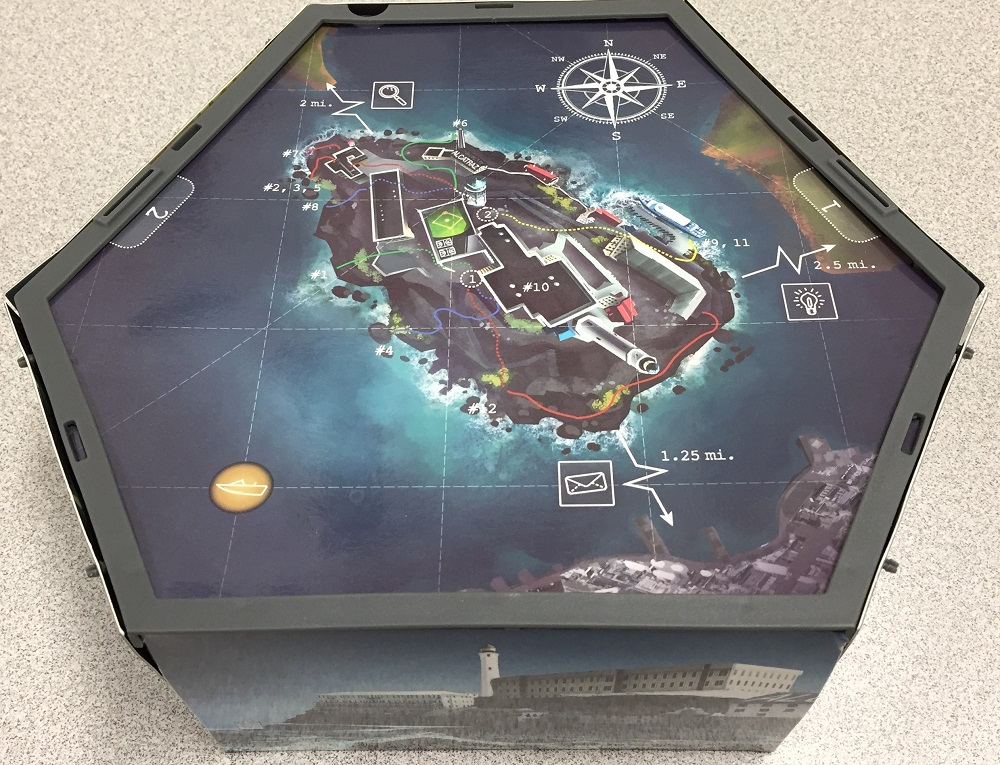 top of the game board at the start