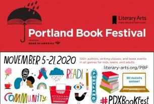 Portland Book Festival banner