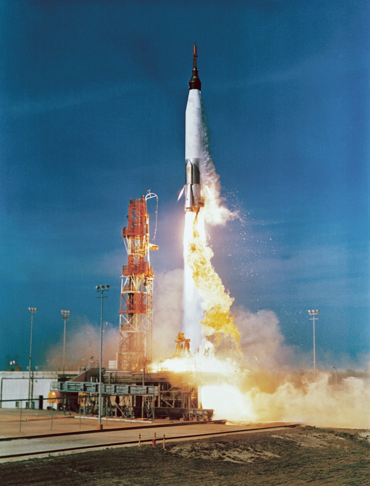 Mercury Atlas 2 rocket launch