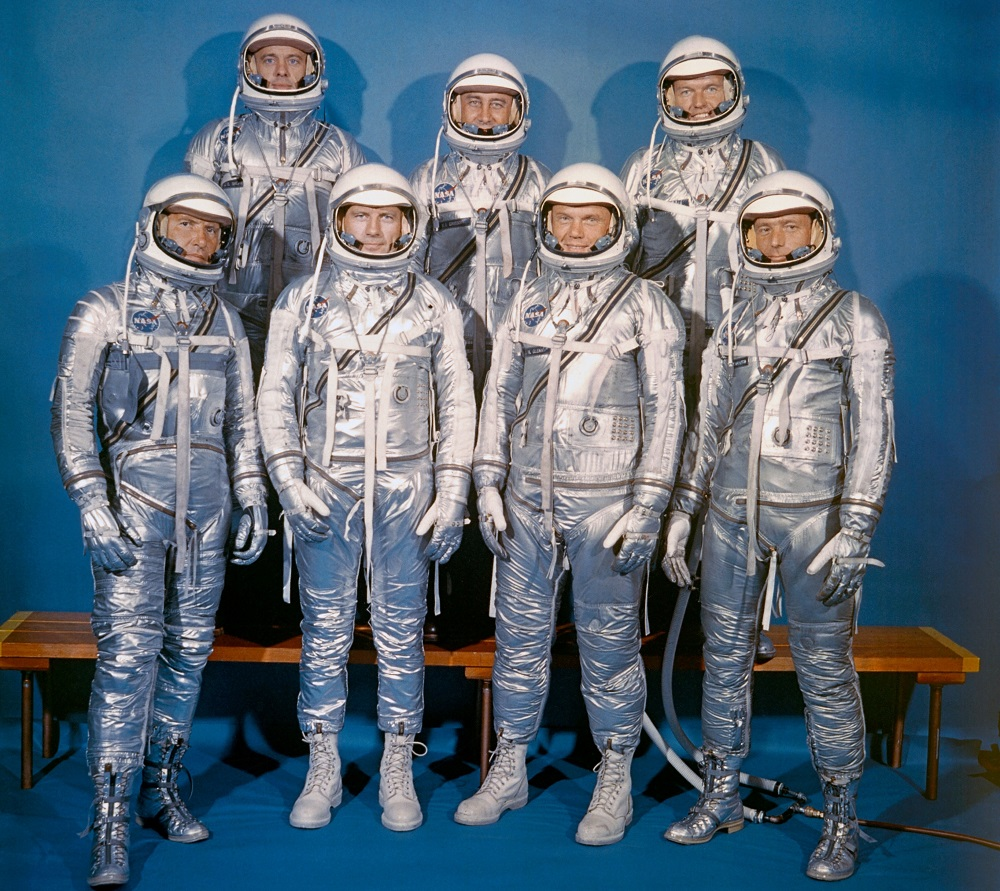 The real Mercury Seven astronauts