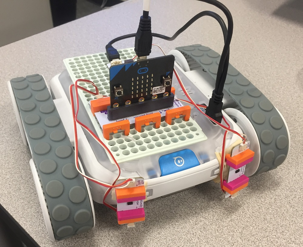 littleBits and micro:bit on a Sphero RVR