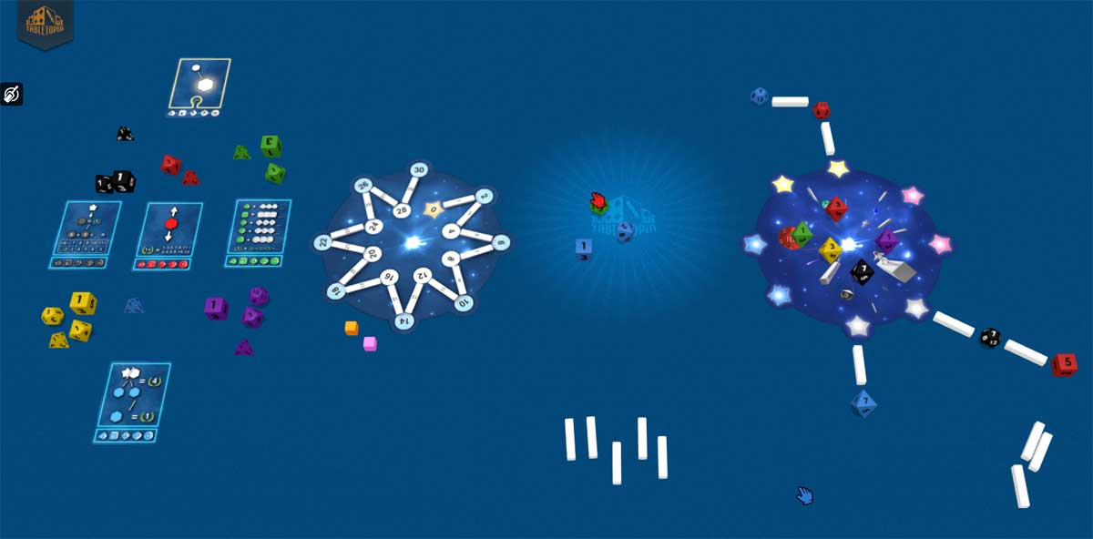Twinkle 2-player game in Tabletopia