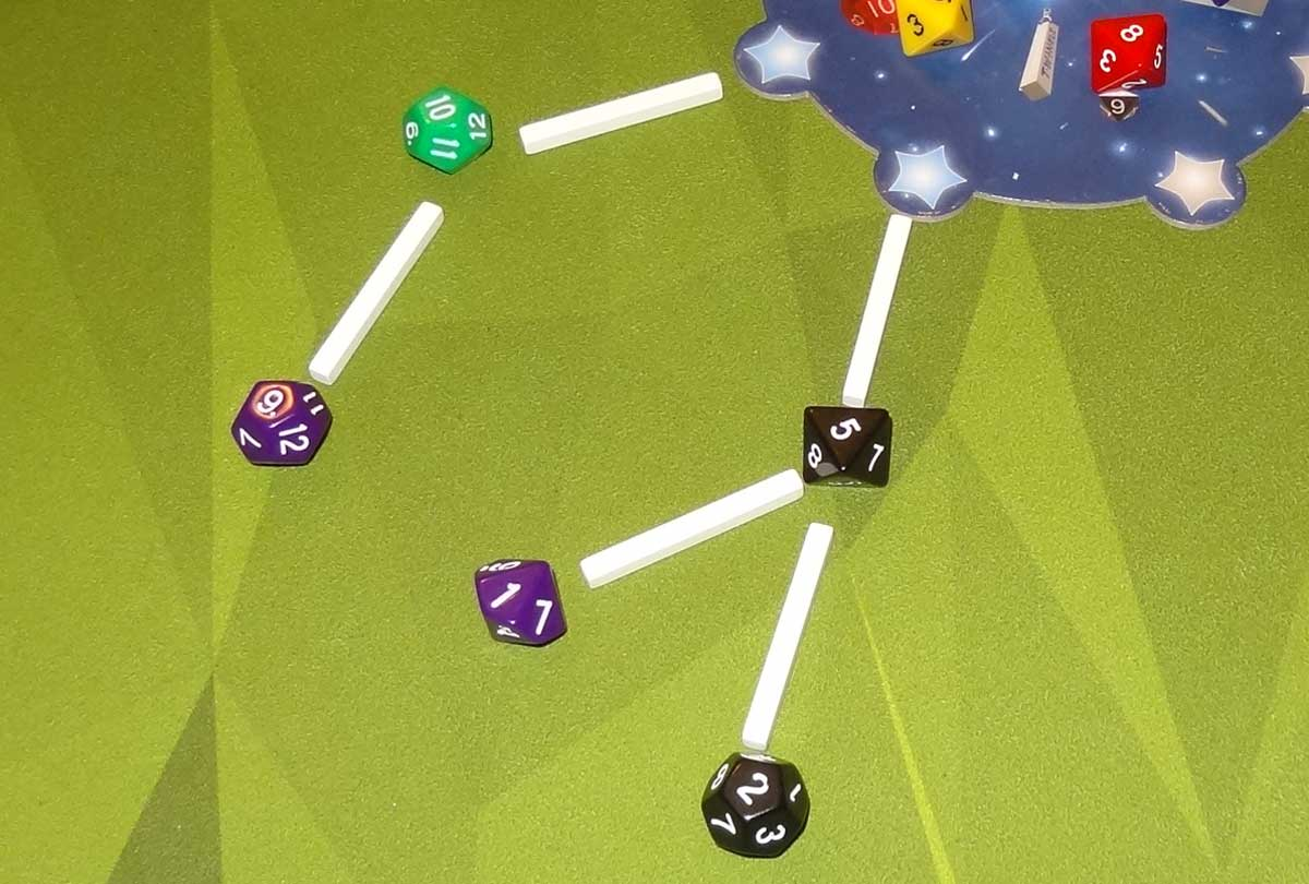 Twinkle adding dice to my constellation