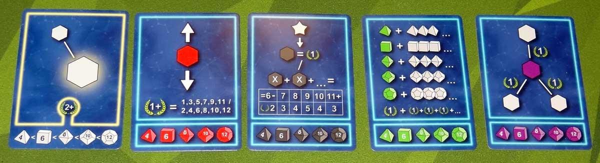 Twinkle scoring cards