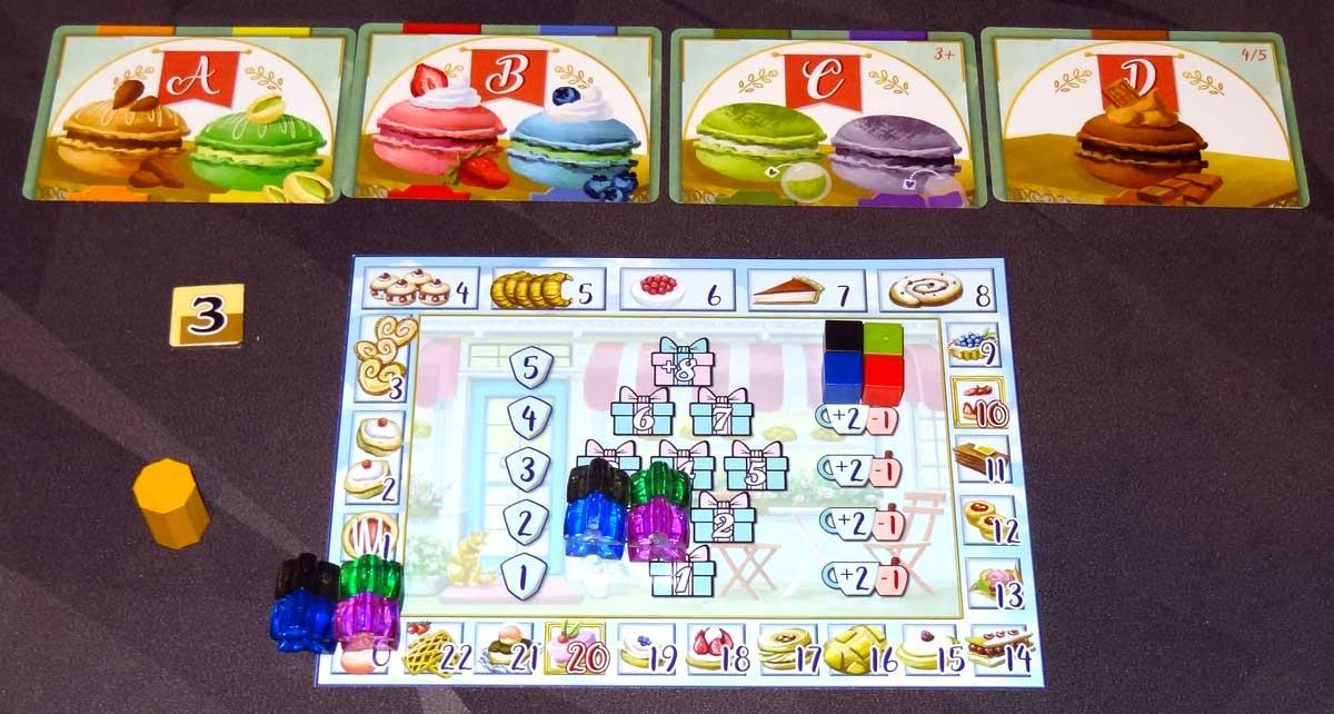 Macaron 4-player setup