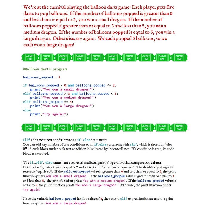 sample of code