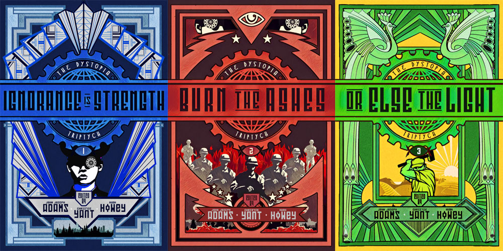 Dystopia Triptych book covers