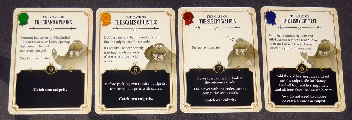 5-Minute Mystery case cards