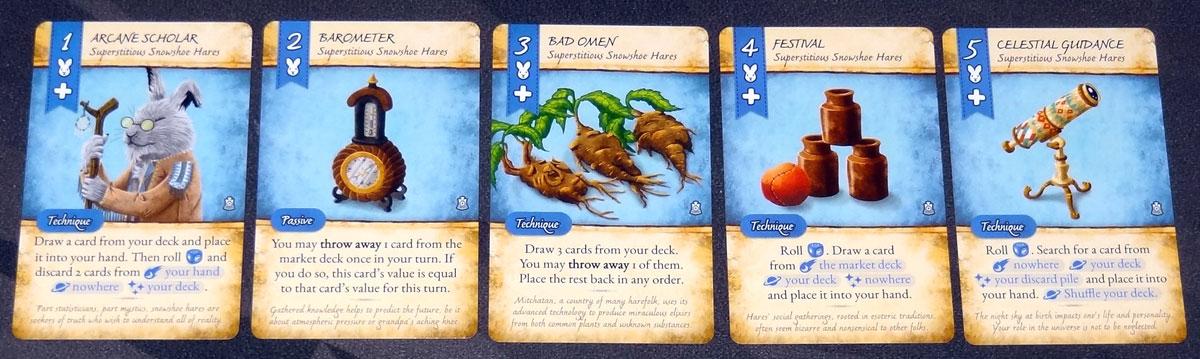 Dale of Merchants 3 snowshoe hare cards