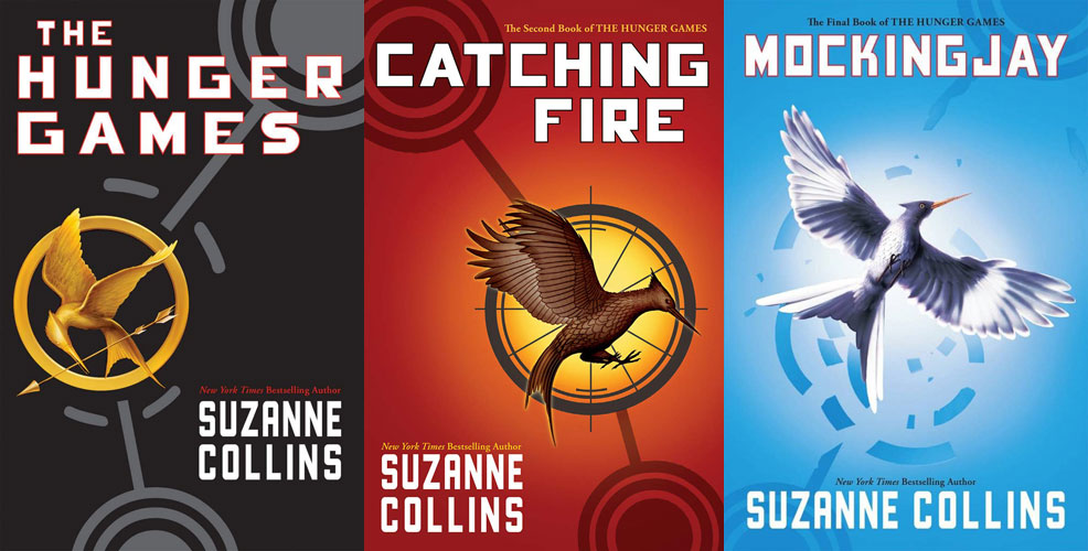 The Hunger Games trilogy book covers