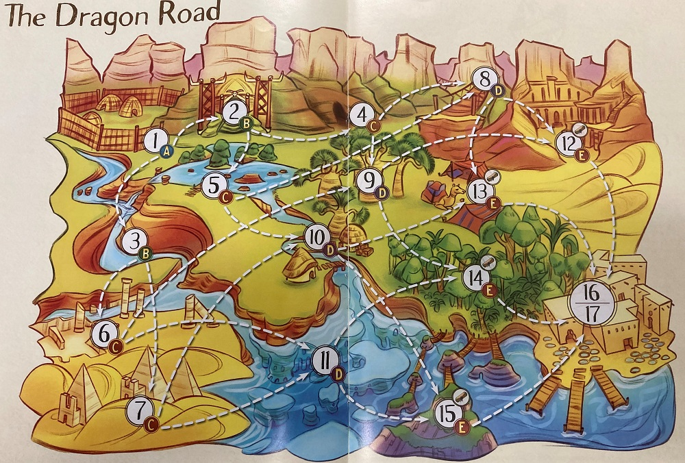 map of the dragon road