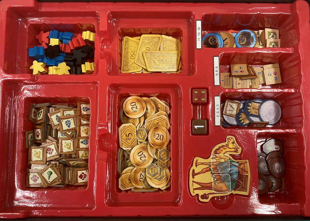 tokens in box