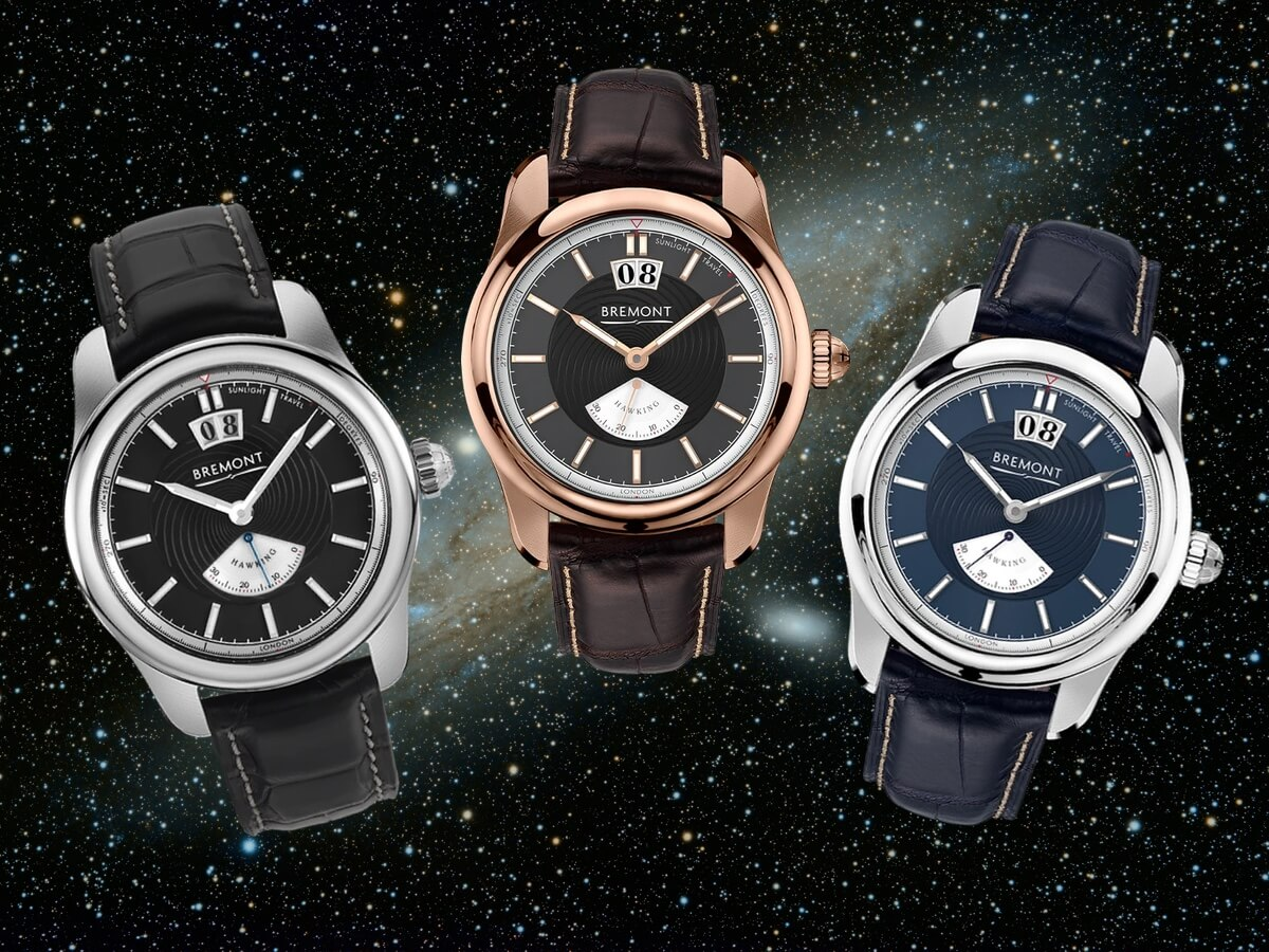 The three men's watches from the Bremont Hawking Collection
