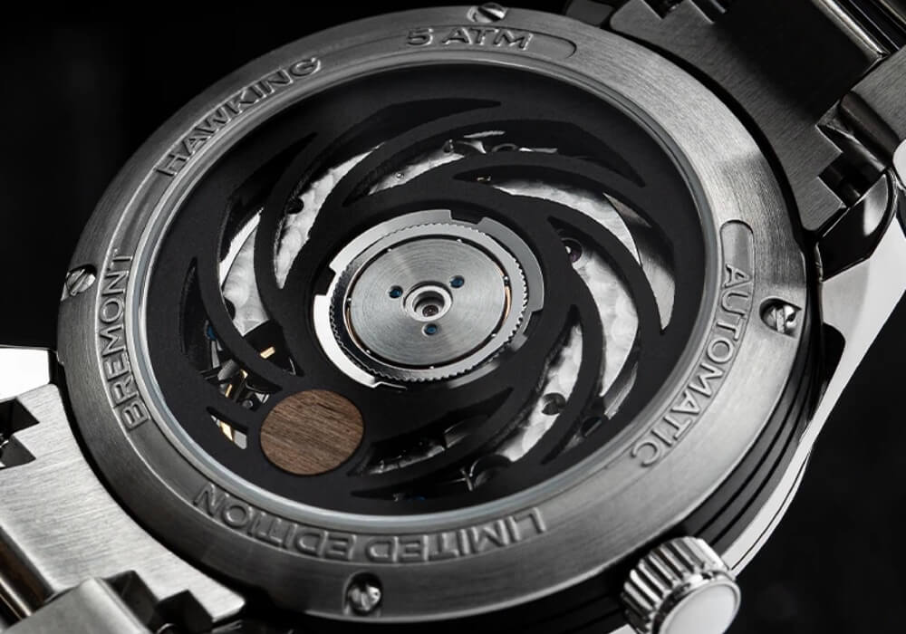 The black hole-inspired movement of the Bremont Hawking