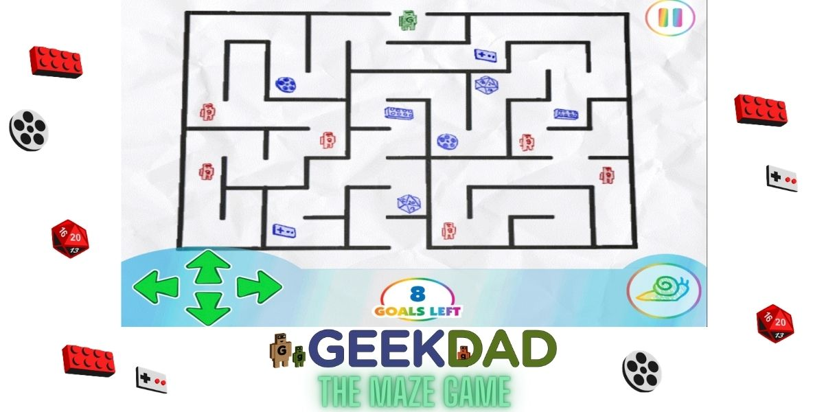 Original GeekDad Maze Game, created with Pixicade.