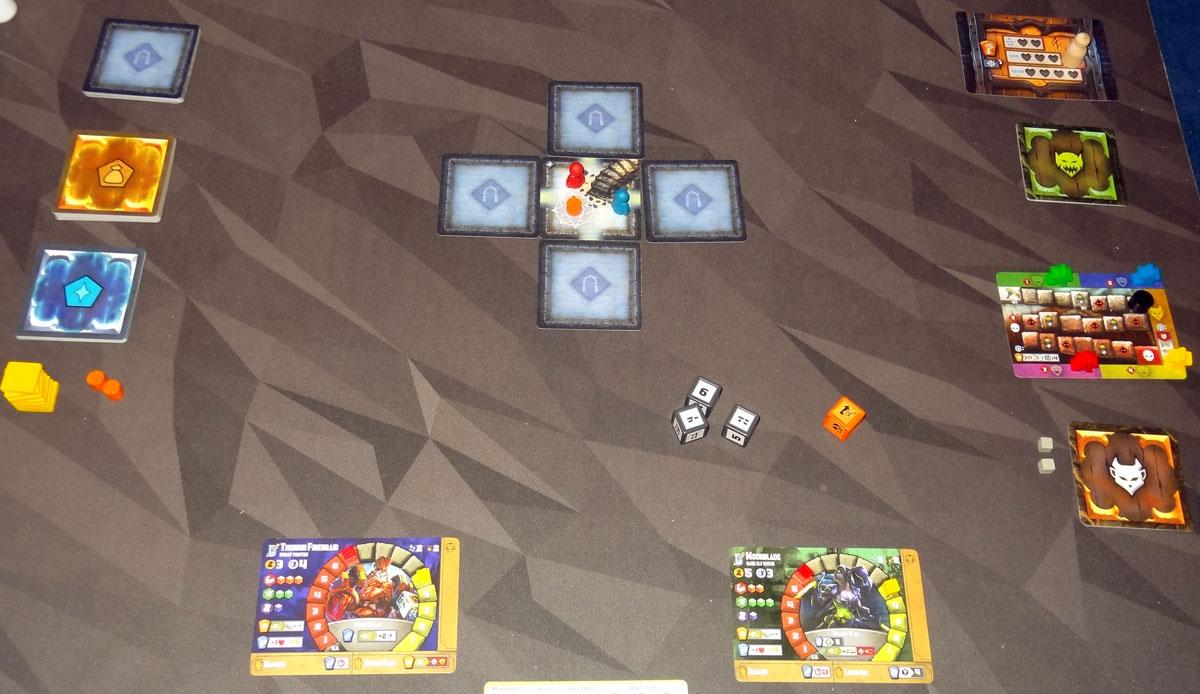 Tiny Epic Dungeons 2-player setup