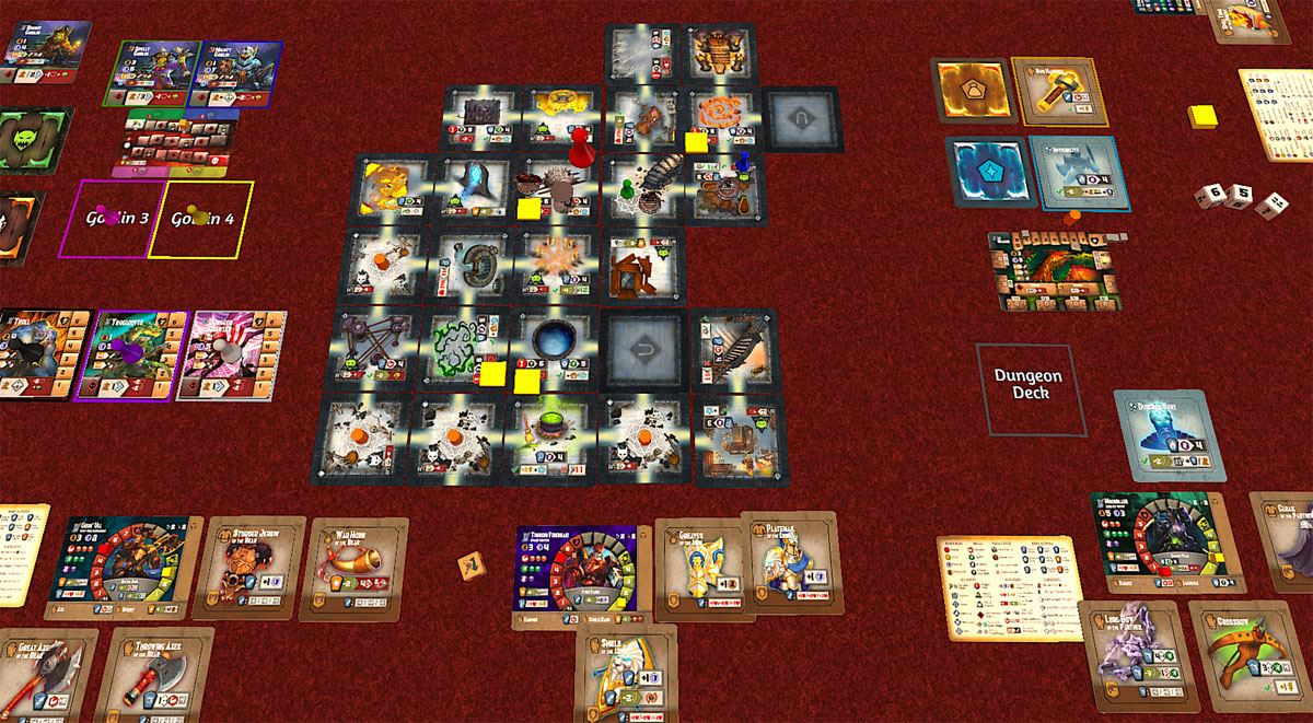 Tiny Epic Dungeons on Tabletop Simulator