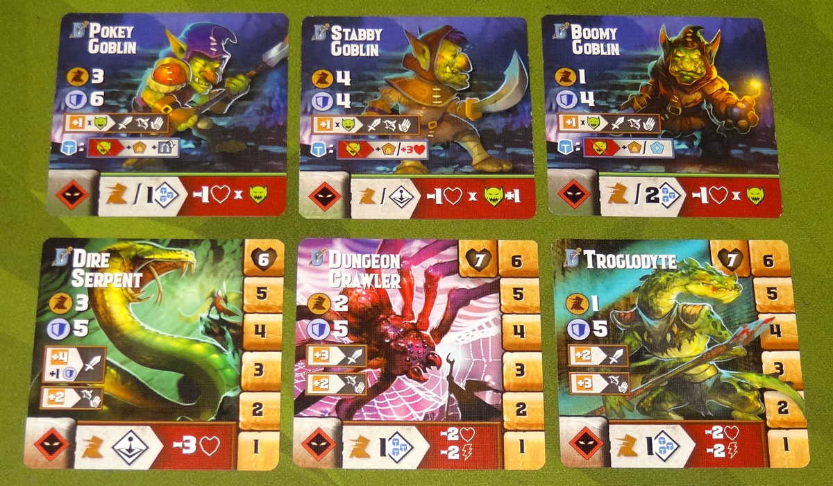 Tiny Epic Dungeons enemy cards