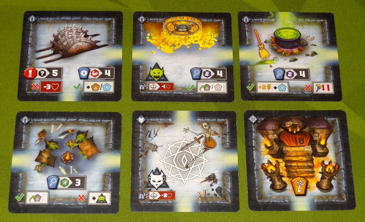 Tiny Epic Dungeons dungeon room cards
