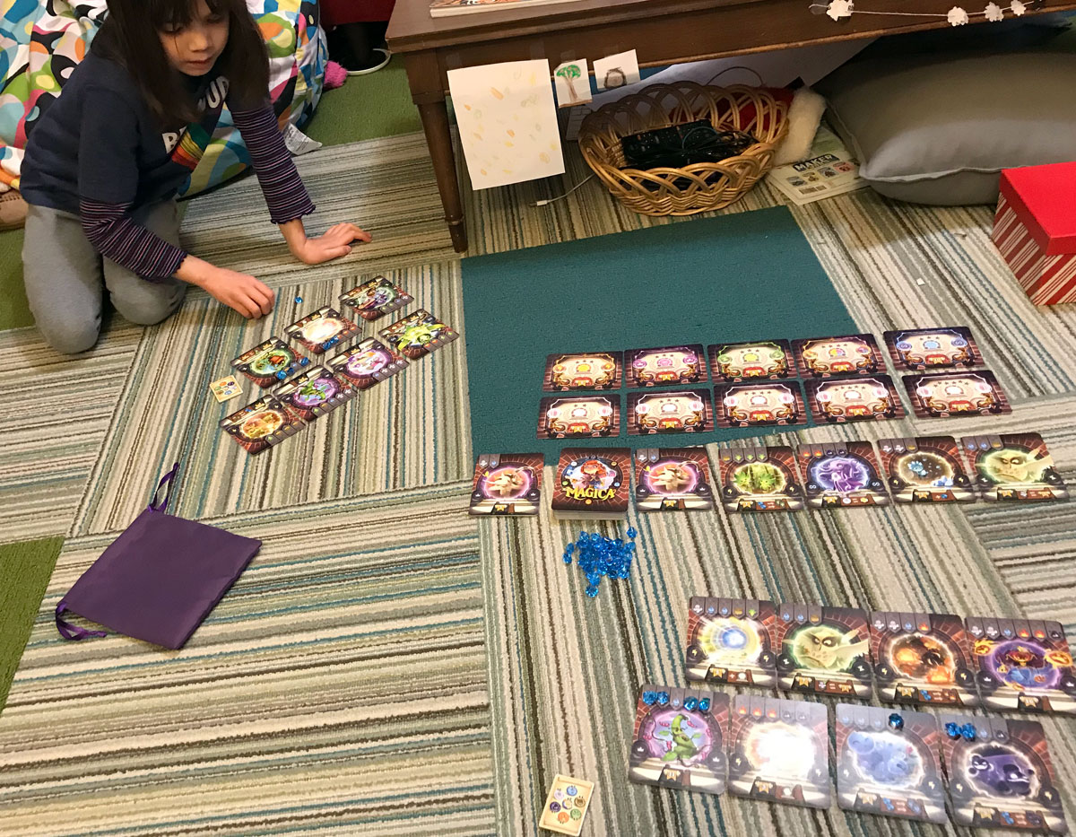 Playing Via Magica with my daughter