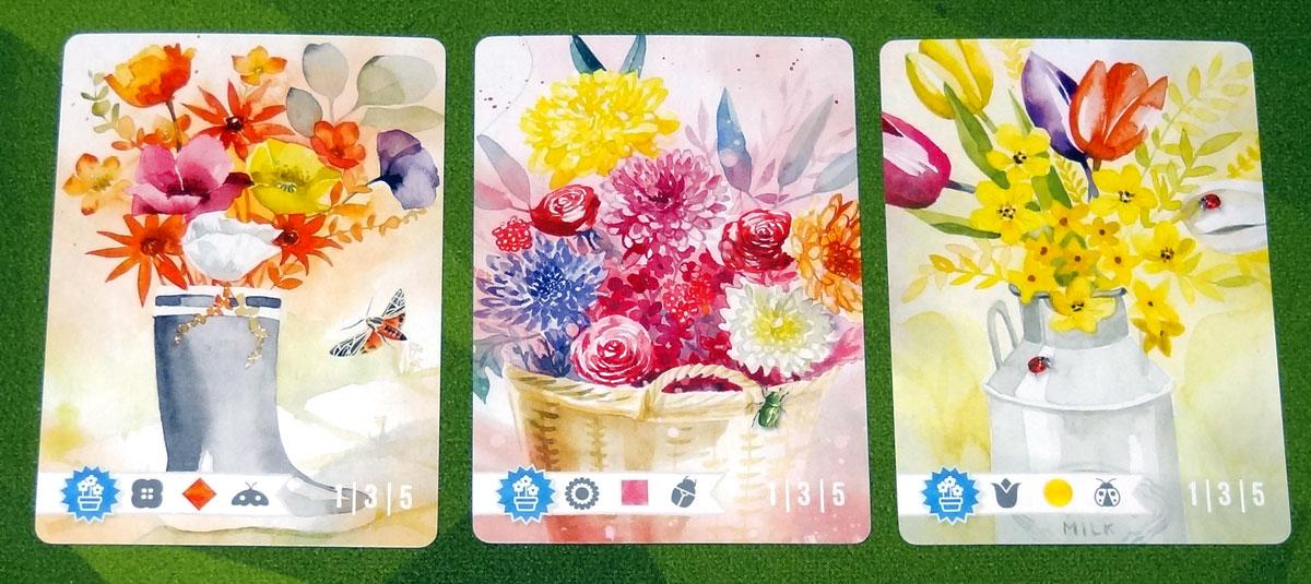 Floriferous arrangement cards