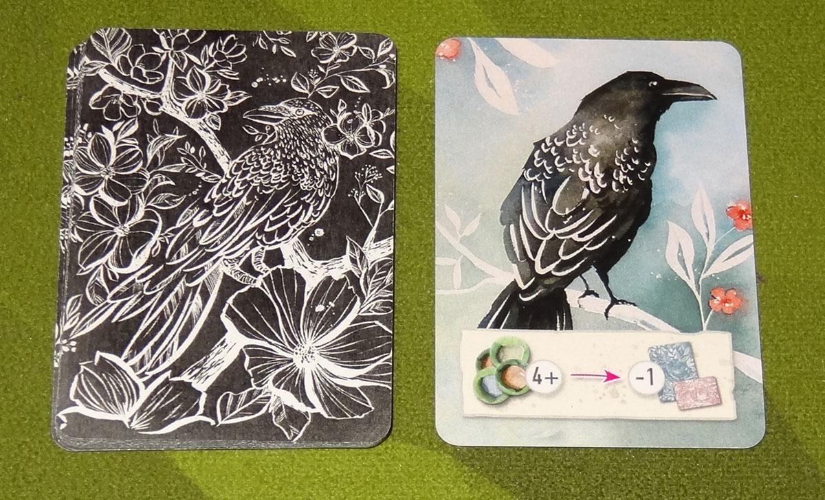 Floriferous Crow cards