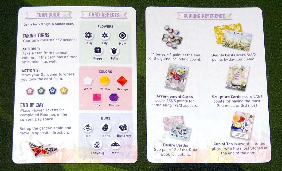 Floriferous reference cards