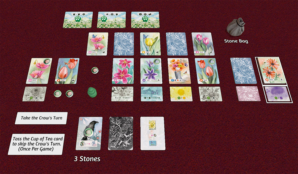Playing Floriferous (solo) on Tabletop Simulator