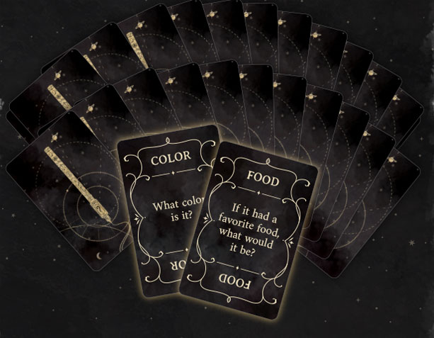 Ghost Writer question cards