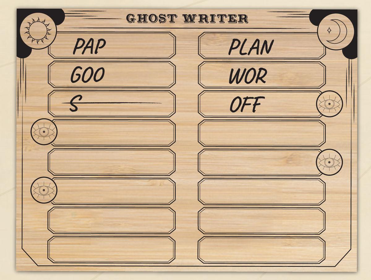 Ghost Writer sheet