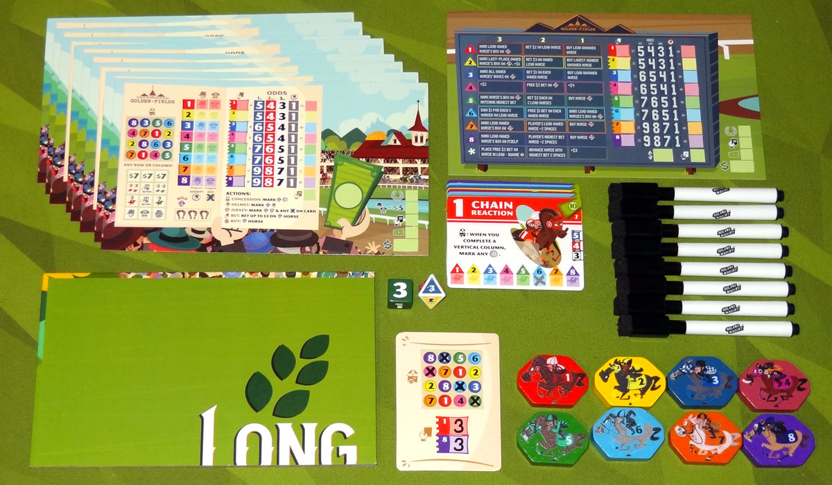 Long Shot: The Dice Game components