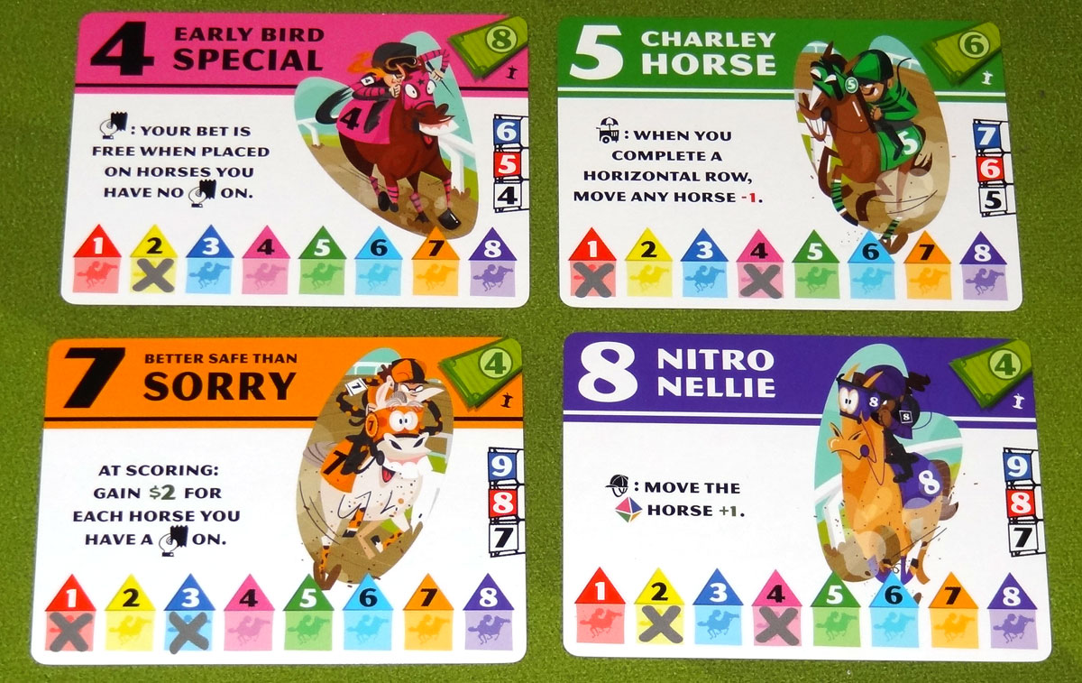 Long Shot: The Dice Game horse cards