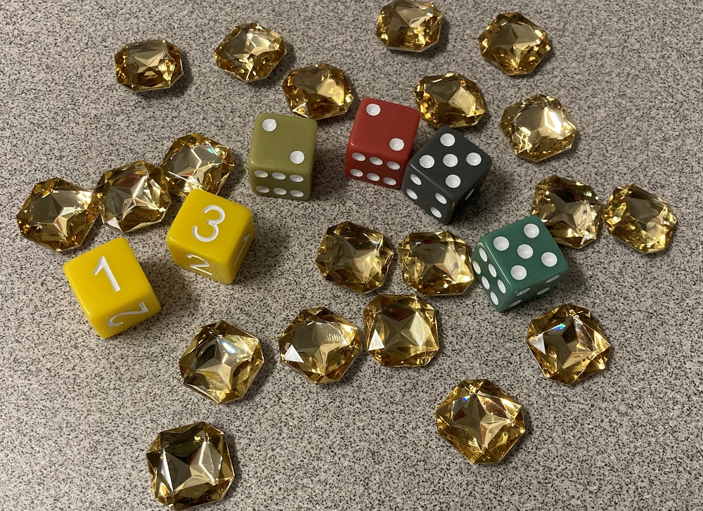dice and power stones