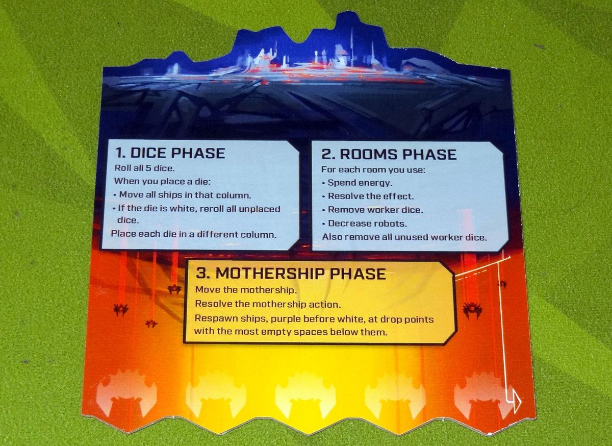 Under Falling Skies mothership tile with phases reference