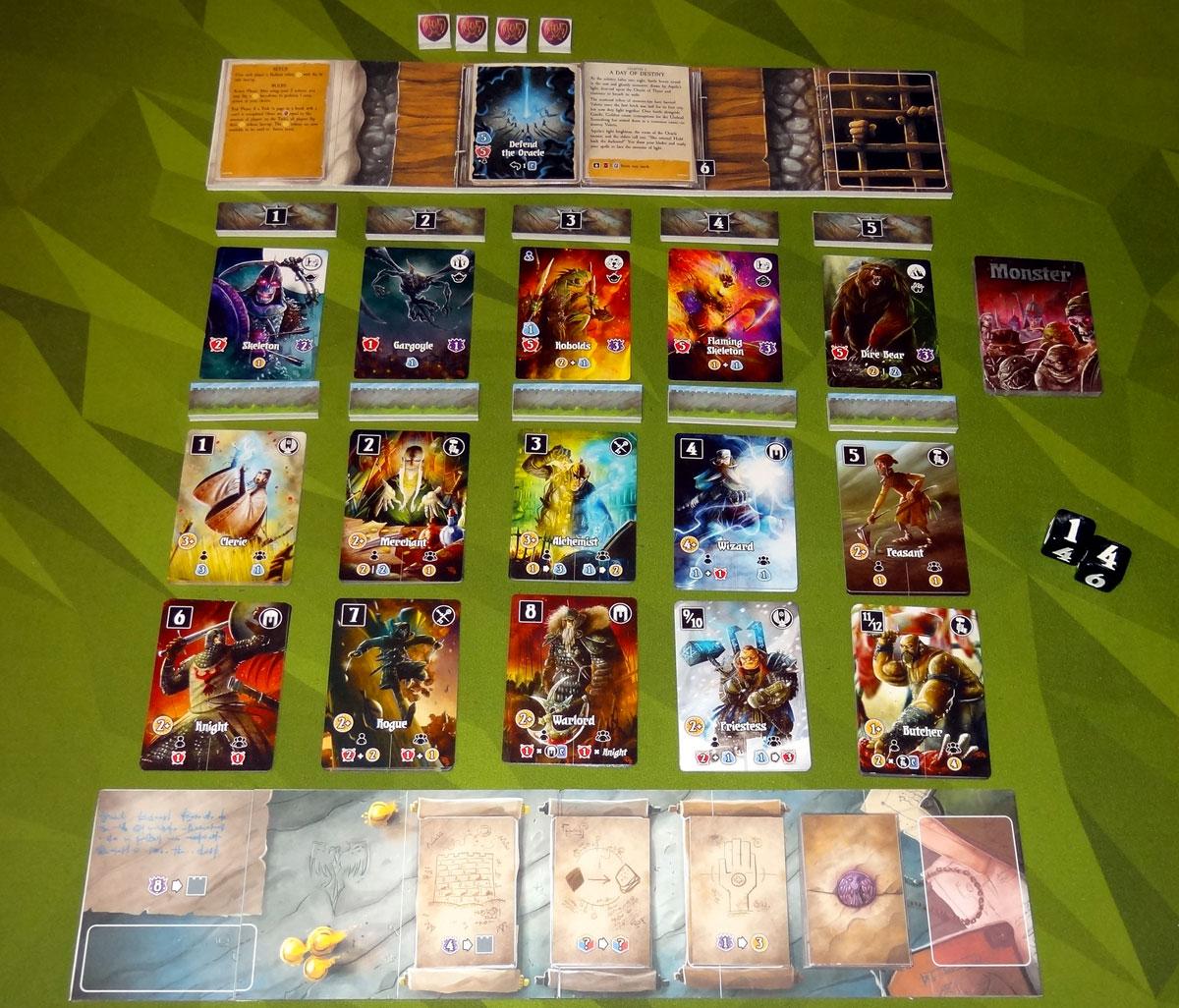 Valeria: Card Kingdoms - Darksworn setup