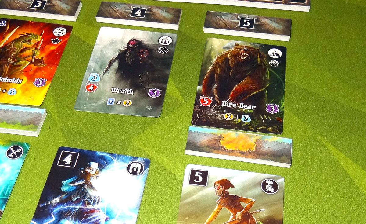 Valeria: Card Kingdoms - Darksworn monster attack example