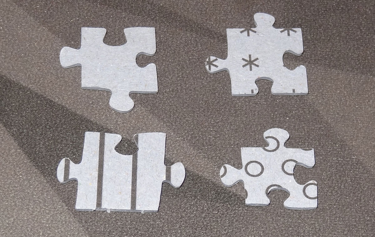 Exit: The Sacred Temple Puzzle piece backs