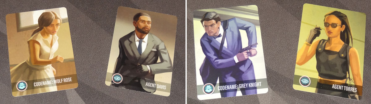 Harsh Shadows agent and spy cards